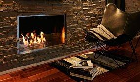 Private Residence - Firebox 1000SS 嵌入式燃烧室 by EcoSmart Fire