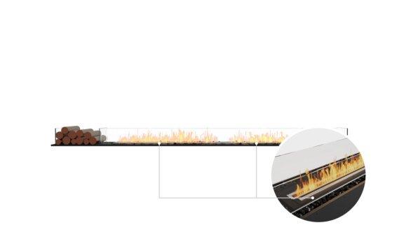 Flex 122BN.BX1 Bench - Ethanol - Black / Black / Installed View by EcoSmart Fire