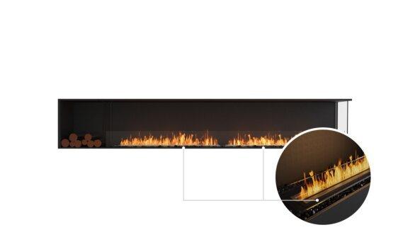 Flex 122RC.BXL Right Corner - Ethanol - Black / Black / Installed View by EcoSmart Fire