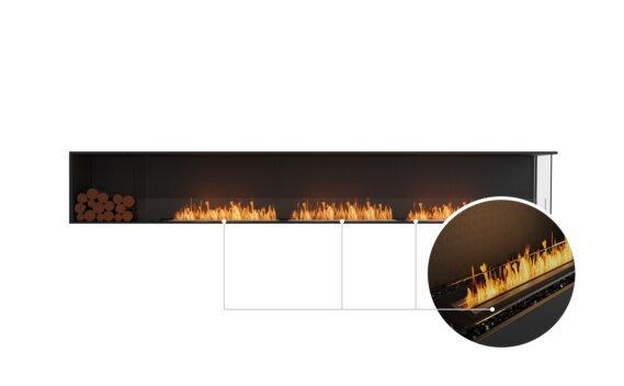 Flex 140RC.BXL Right Corner - Ethanol - Black / Black / Installed View by EcoSmart Fire