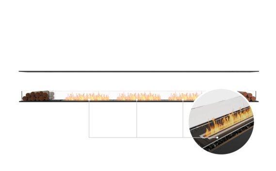 Flex 158IL.BX2 Island - Ethanol - Black / Black / Installed View by EcoSmart Fire