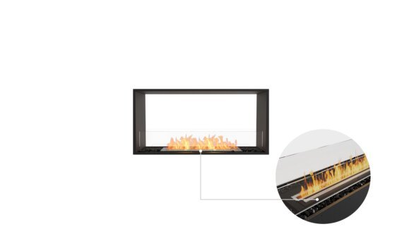 Flex 42DB Double Sided - Ethanol - Black / Black / Installed View by EcoSmart Fire