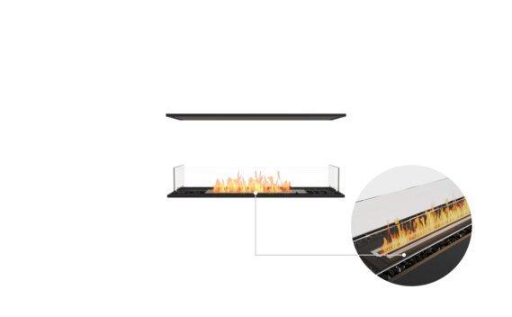 Flex 42IL Island - Ethanol - Black / Black / Installed View by EcoSmart Fire