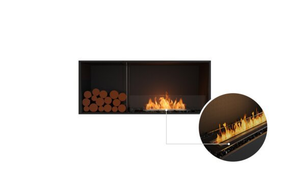 Flex 50SS.BXL Single Sided - Ethanol - Black / Black / Installed View by EcoSmart Fire