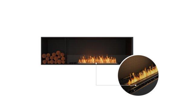Flex 68SS.BXL Single Sided - Ethanol - Black / Black / Installed View by EcoSmart Fire