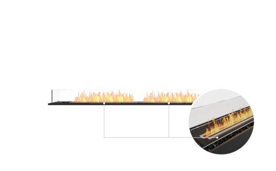 Flex 86BN Bench - Ethanol - Black / Black / Installed View by EcoSmart Fire