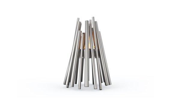 Stix 整体壁炉 - Ethanol - Black / Stainless Steel by EcoSmart Fire