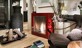 Merkmal Showroom Commercial Fireplaces 设计壁炉 Idea