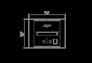 BK2UL 生物乙醇燃烧器 - Technical Drawing / Top by EcoSmart Fire