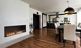 Dining Area Single Sided Fireboxes Flex Fireplace Idea