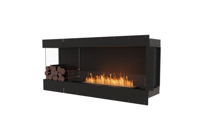 Flex 68LC.BXL Left Corner - Ethanol / Black / Uninstalled View by EcoSmart Fire