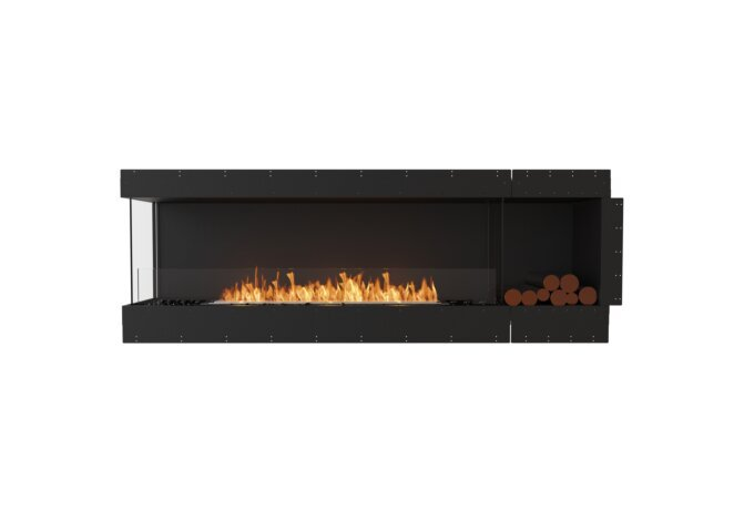 Flex 86LC.BXR Left Corner - Ethanol / Black / Uninstalled View by EcoSmart Fire