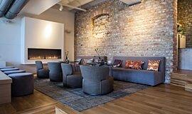 Lobby Single Sided Fireboxes Flex Fireplace Idea