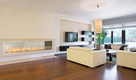 Living Area Commercial Fireplaces 嵌入式燃烧室 Idea