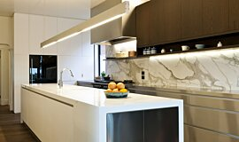 Celebrity Chef's Kitchen  Kitchen Interior Designs 嵌入式燃烧室 Idea