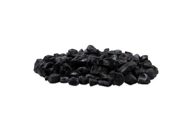 Black Glass Charcoal 装饰鹅卵石 - Black by EcoSmart Fire