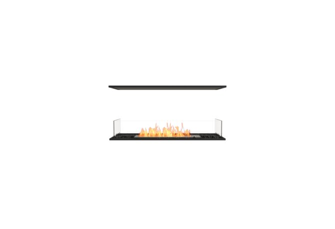 Flex 42IL Island - Ethanol / Black / Installed View by EcoSmart Fire