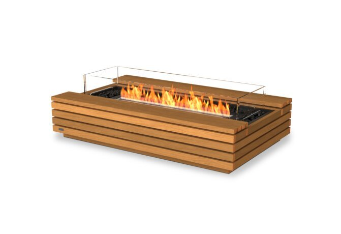 Cosmo 50 壁炉家具 - Ethanol - Black / Teak / Optional Fire Screen by EcoSmart Fire