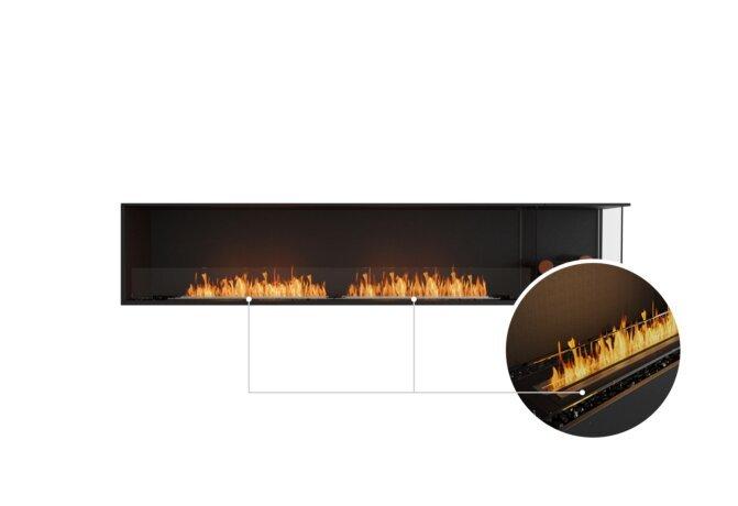Flex 104RC.BXR Right Corner - Ethanol - Black / Black / Installed View by EcoSmart Fire