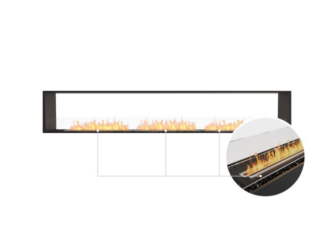 Flex 122DB Double Sided - Ethanol - Black / Black / Installed View by EcoSmart Fire