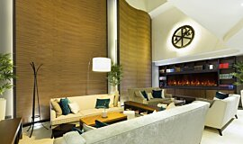 Lobby Indoor Fireplaces 嵌入式燃烧室 Idea