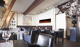 Restaurant Electric Fireplaces Built-In Fire Idea