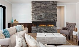 Lounge Room Flex Fireplaces Built-In Fire Idea