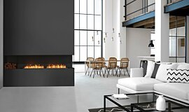 Living Area Flex Fireplaces Built-In Fire Idea