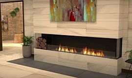 Lounge Area Flex Fireplaces Built-In Fire Idea