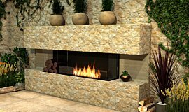 Outdoor Setting Flex Fireplaces Built-In Fire Idea