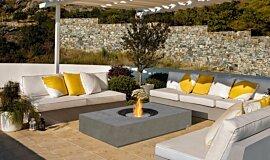 Pergola Freestanding Fireplaces 壁炉家具 Idea