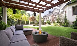 Outdoor Pergola Freestanding Fireplaces Fire Table Idea