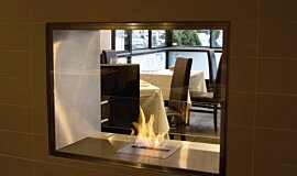 Equinox Restaurant See-Through Fireplaces 嵌入式燃烧室 Idea