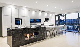 Enigma Interiors Linear Fires Built-In Fire Idea