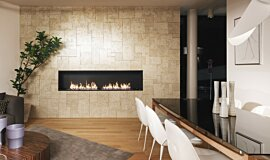 Merkmal Showroom Commercial Fireplaces Built-In Fire Idea