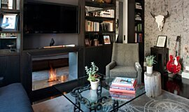 New York Loft Builder Fireplaces Built-In Fire Idea
