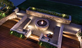 Oswald Down South Home Builder Fireplaces Built-In Fire Idea