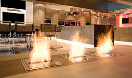 Allianz Arena Linear Fires Built-In Fire Idea