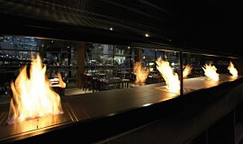 Hurricane's Grill & Bar Builder Fireplaces Ethanol Burner Idea
