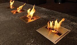 Long Room  Hospitality Fireplaces Ethanol Burner Idea