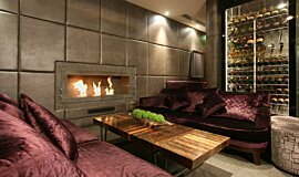 May Fair Bar Commercial Fireplaces Built-In Fire Idea