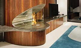 SAAJ Design Ethanol Burners Built-In Fire Idea