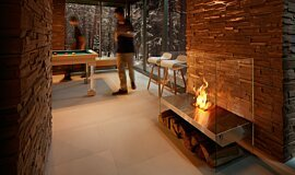 Commercial Space See-Through Fireplaces 设计壁炉 Idea