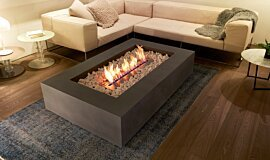 Private Residence Linear Fires Fire Table Idea