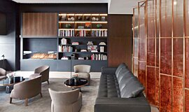 St Regis Hotel Bar Linear Fires Built-In Fire Idea