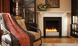 Private Residence Linear Fires Built-In Fire Idea
