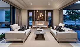 Churchlands Residence Builder Fireplaces Built-In Fire Idea