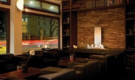 Flemings Hotel Linear Fires Built-In Fire Idea