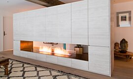 Fujiya Mansions Linear Fires Built-In Fire Idea