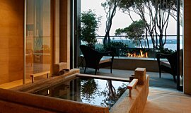 Hiramatsu Hotel & Resorts Linear Fires Built-In Fire Idea